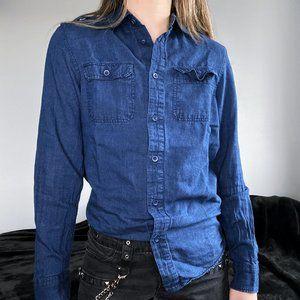 FREE ADD ON - H&M Denim Look Blue Flannel Shirt